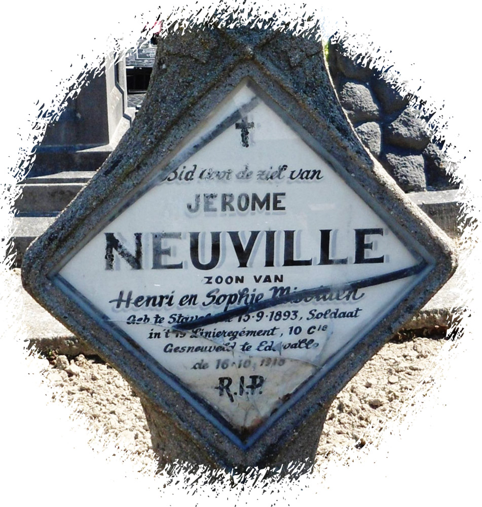 site to be jerome neuville 10è compagnie 19è sépulture