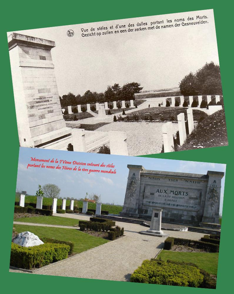 site to be monument 4è et stèles wulpen