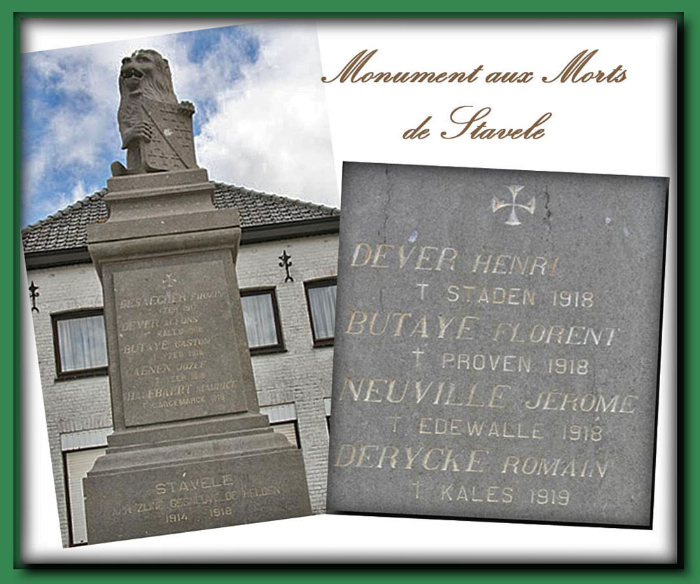 site to  be stavele monument  aux morts 2014