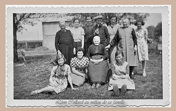 Léon Collard(pipe) saon épouse (Mary) Léontine Collard,Marie Mahaux ,Lucie Collard ,mère Collard ...