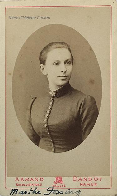 portrait marthe Possing épouse joseph coulon portrait YH