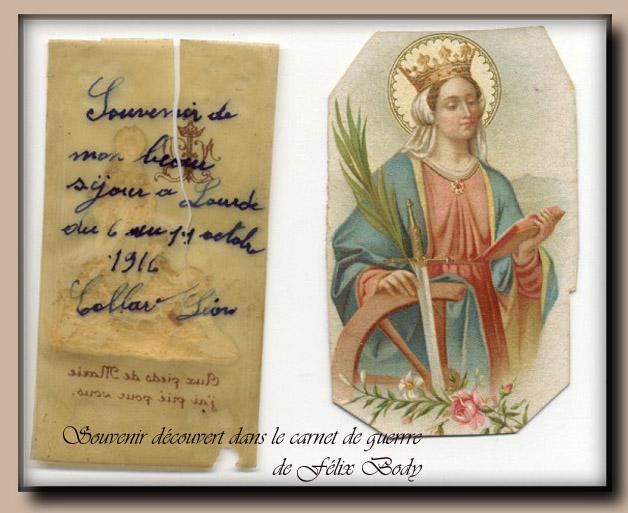 site to be Souvenir de Lourdes 1916