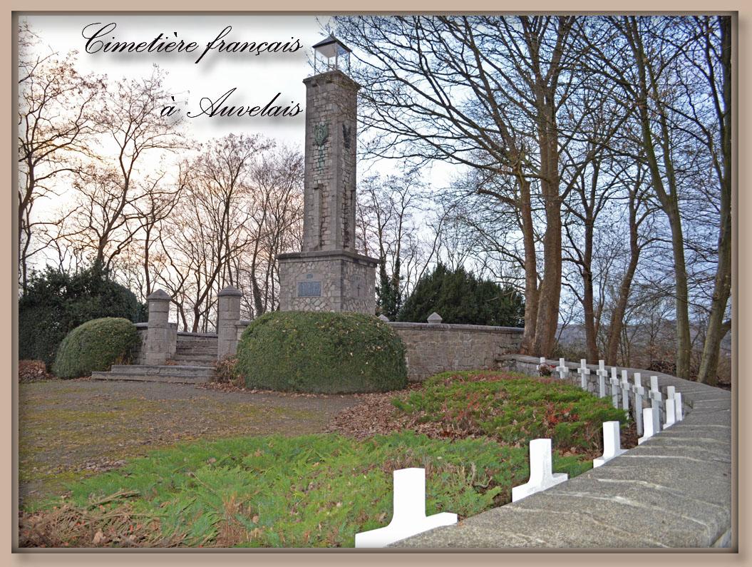 site to be cimetière français d'auvelais mémorial 1934