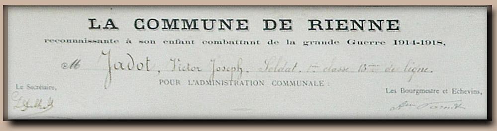 site to be jadot  victor de la commune rienne reconnaissante