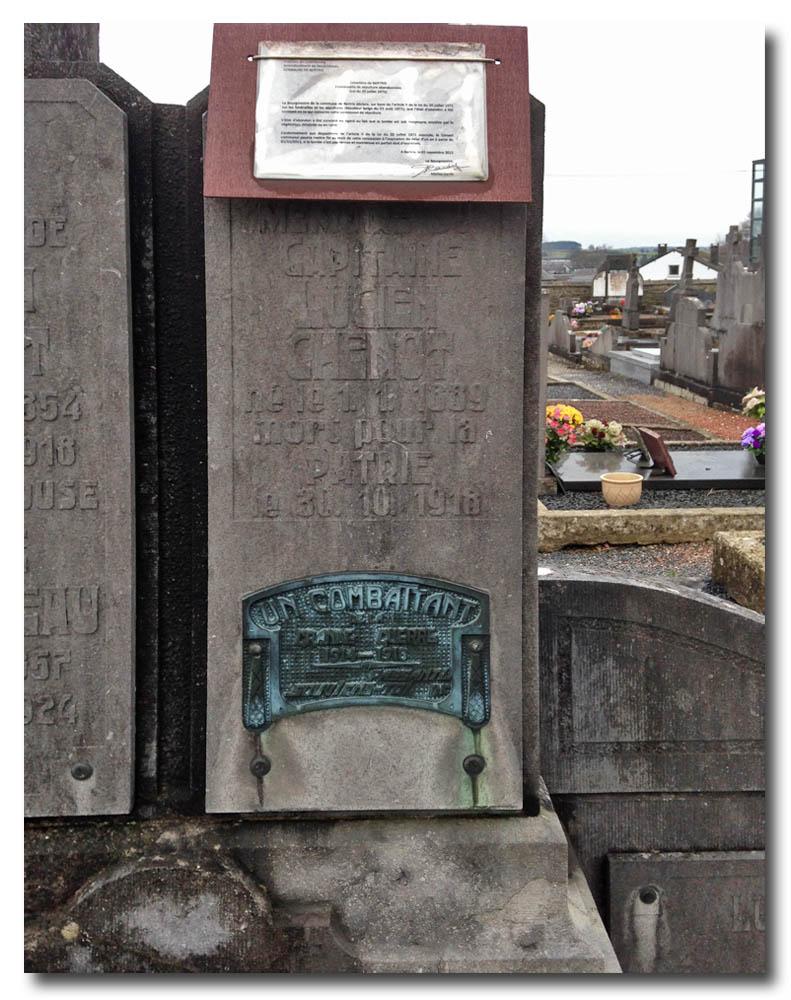 site to be sépulture de lucien chenot