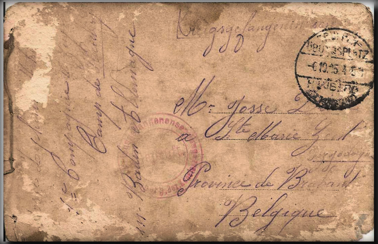 site to Cassel,Baden 1915 courrier