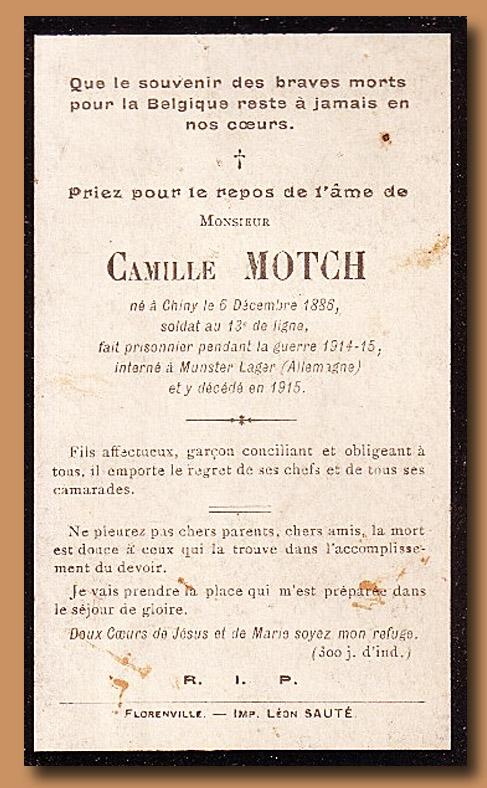 site to be motch 1915 avis funéraire