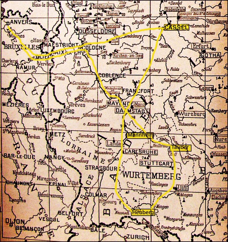 site to itinéraire Josse les camp 1914-18