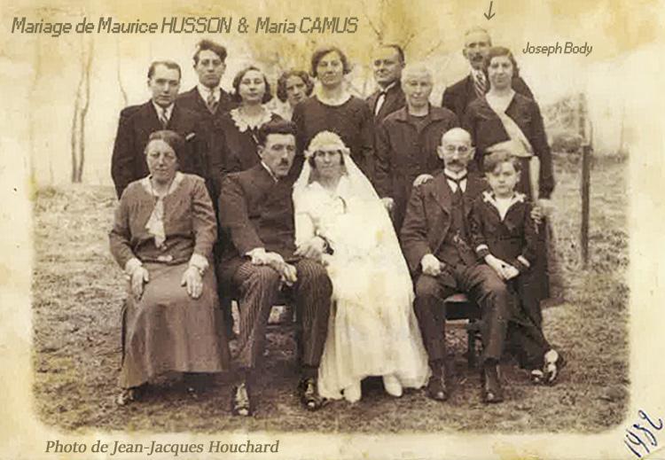 1932 mariage maurice husson& camus maria jjmibb