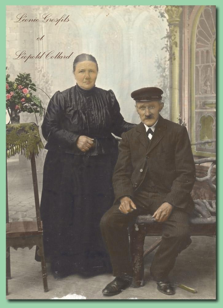 Léopold Collard & Léonie Grosfils portrait hdéf colormibb