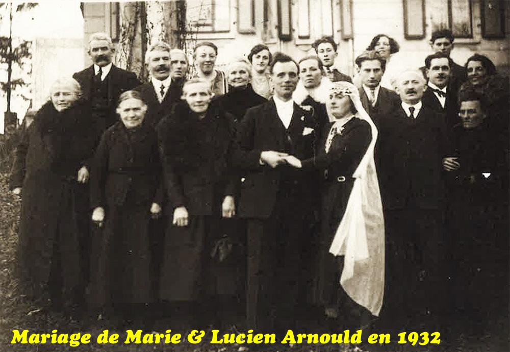 mariage de Marie & lucien arnould 1932 website