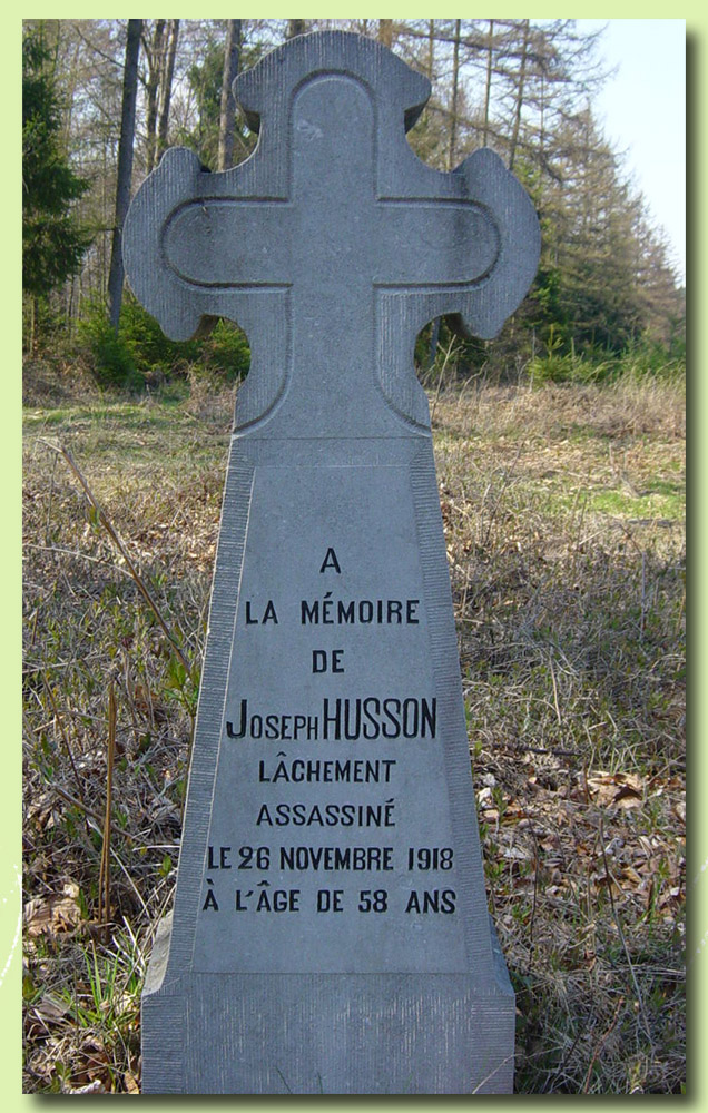 site to be Croix josephHusson 18 nov 1918