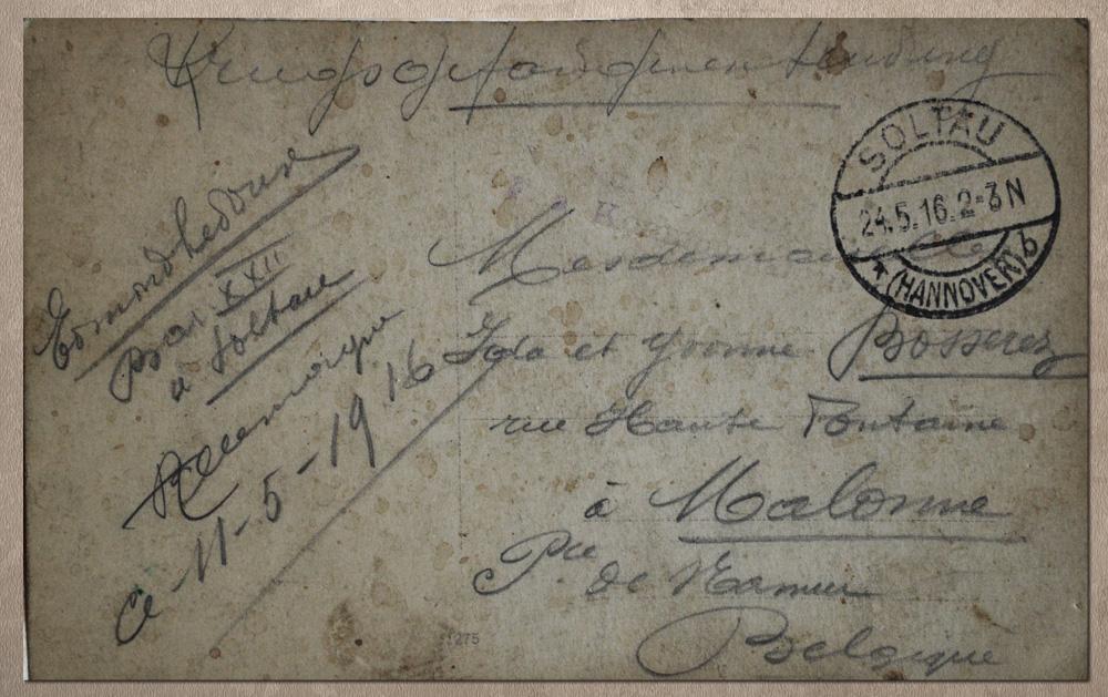 to be 11 mai 1916 lettr à bosserez ida yvonne