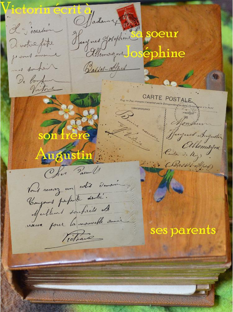victorin écrit à sa famille