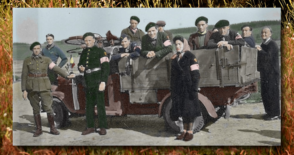 René Rochet avec les Résistants et jeanne hallet