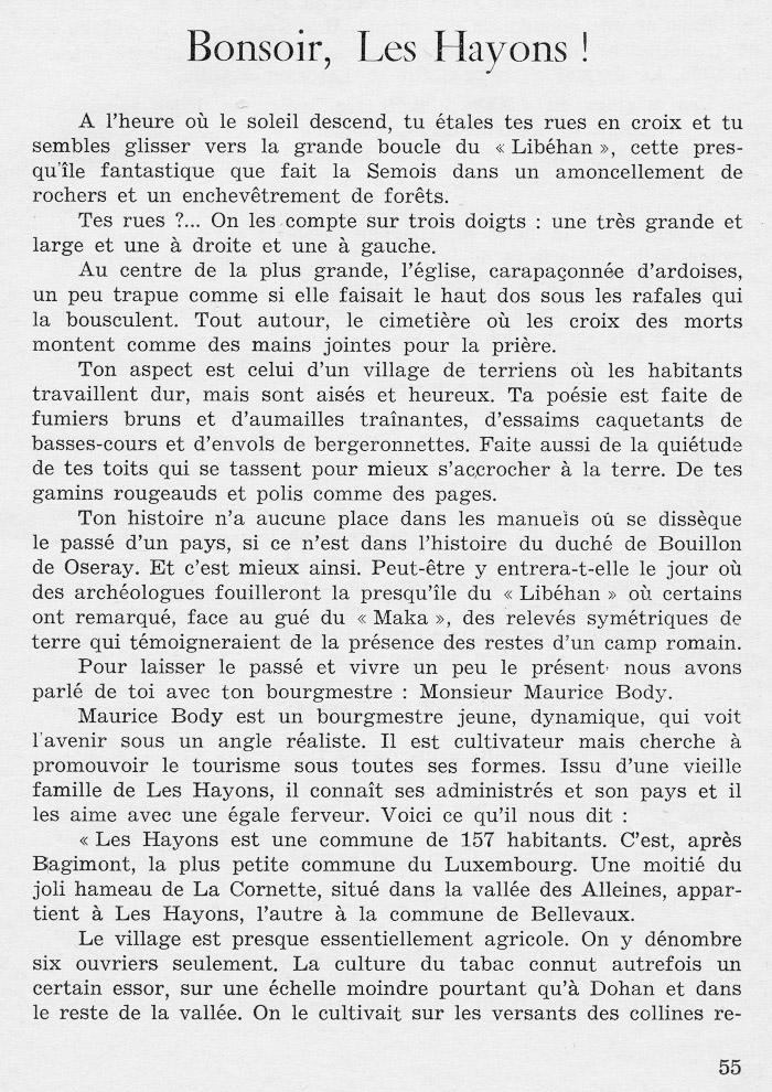 site to Bonsoir Les Hayons de Marcel LEROY page 55