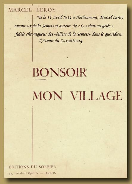 site to be MARCEL LEROY  bonsoir mon village
