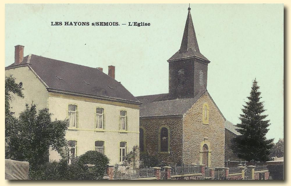 site to be les hayons clocher et  presbytère