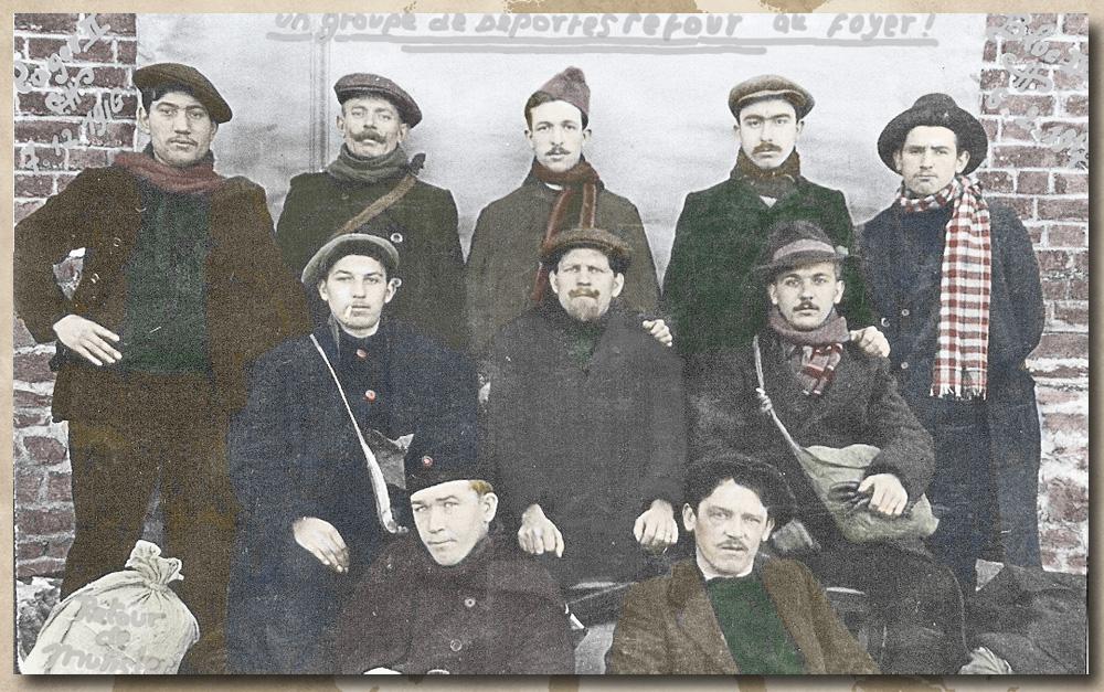 site to be lux bertrix  5 fev 1917 retour d'un groupe de Déportés