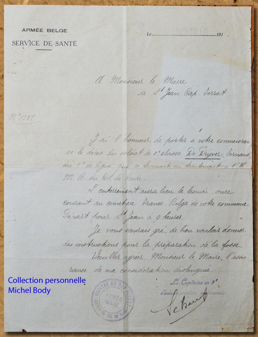 site to fr de drijver décès 1918