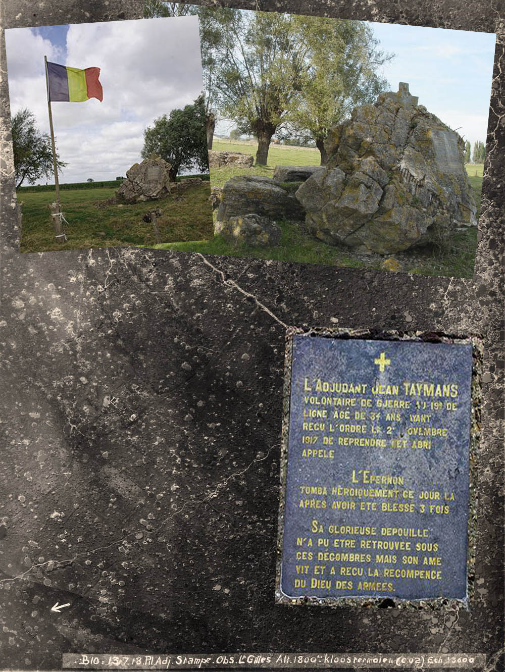 site to be jean taymans bunker plaque drapeau  detruit  epernon