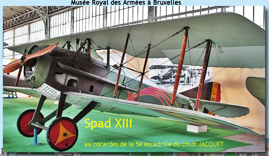 site to be bxl spad XIII escadrille cmdt Jacquet