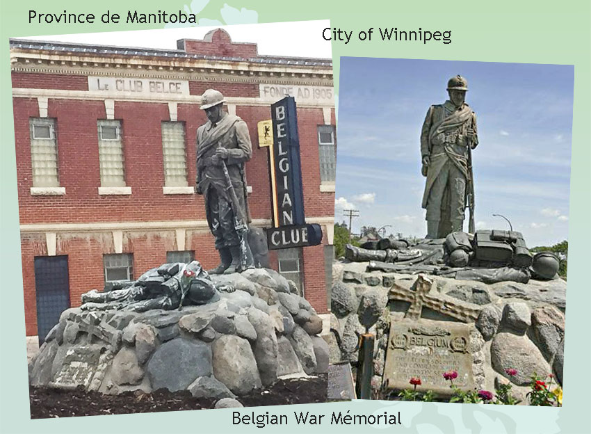site to can mémorial belge winnipeg