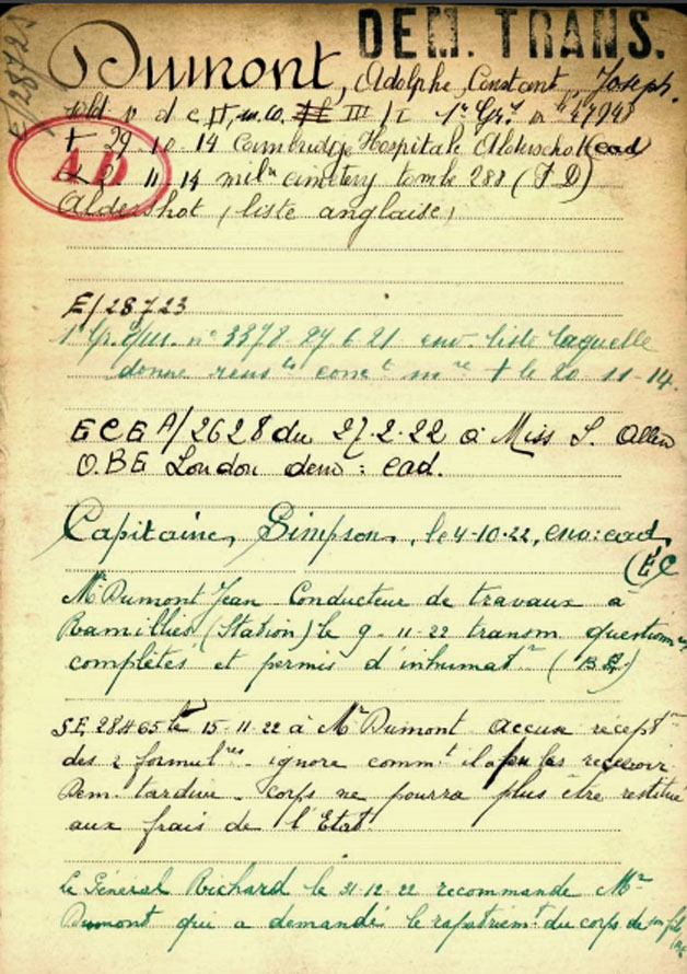 fiche mémoire belgium register page 01