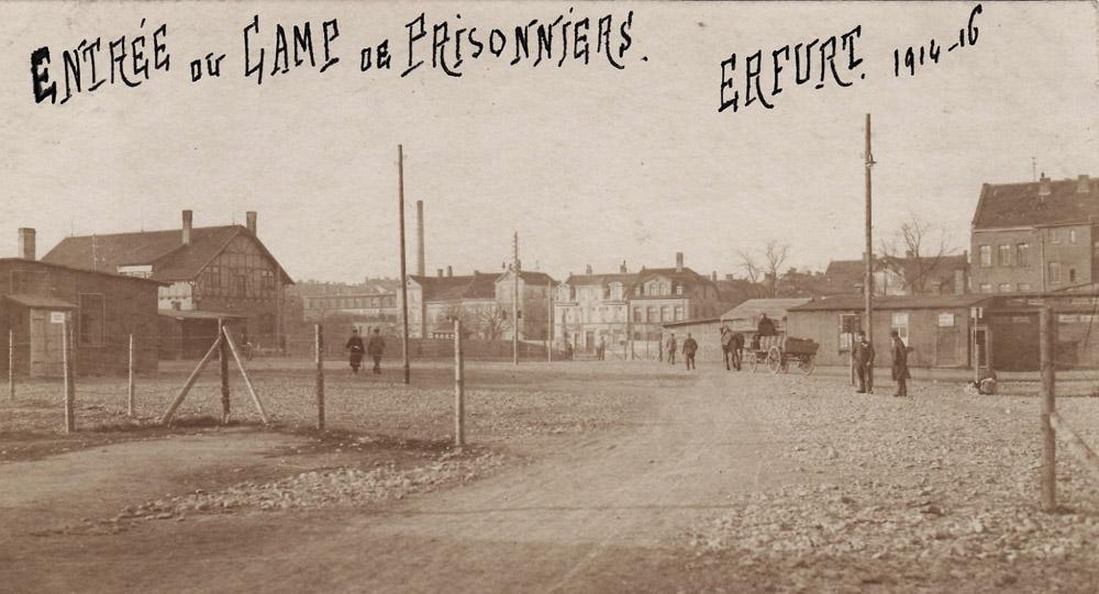 erfurt camp 1916 entrée