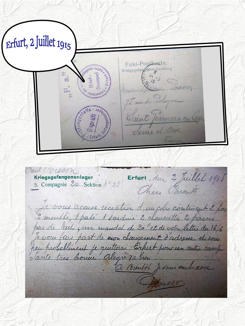 site to de erfurt 2 juil 1915 courrier Poisson