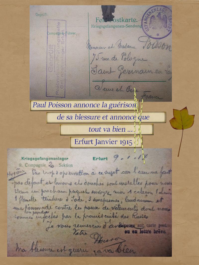 site to de guerison de Paul Poisson erfurt janv 1915