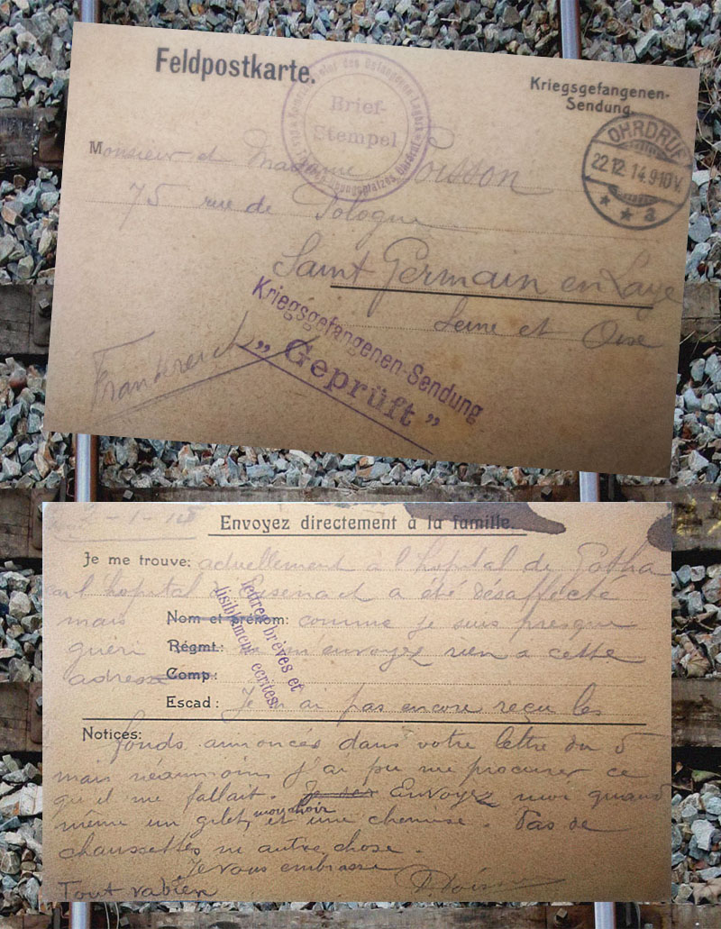 site to fr 22 dec 1914 courrier Poisson erfurt