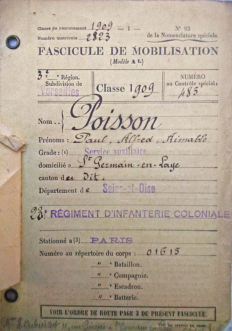 site to fr fascicule mobilisation 1909 paul poisson