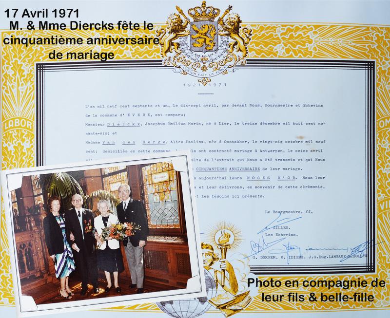 site to be dierckx 50è anniv mariage 1971 avec enfants