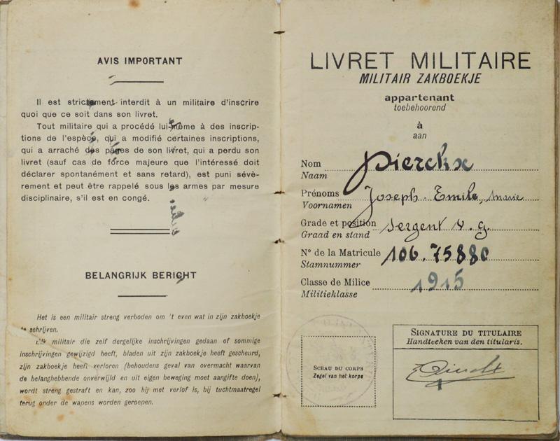site to be dierckx livret militaire page accueil