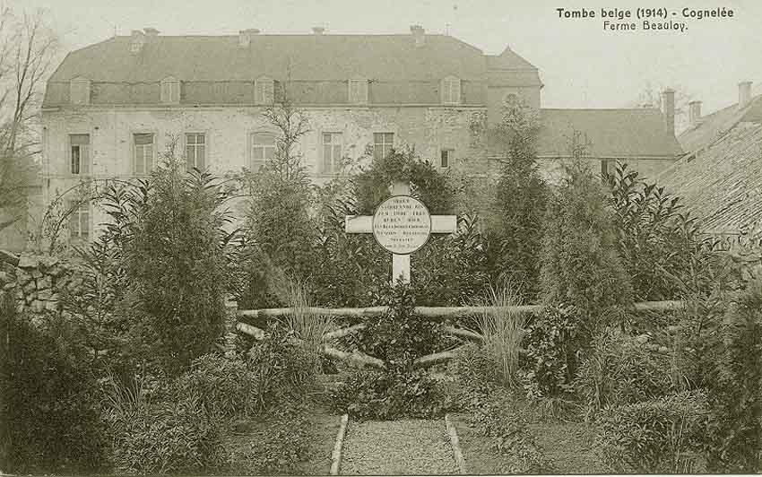 Tombe Belge 1914 Ferme de Beauloye