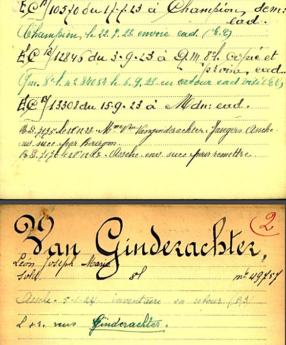 site to be sdt van ginderachter fiche 02 war register