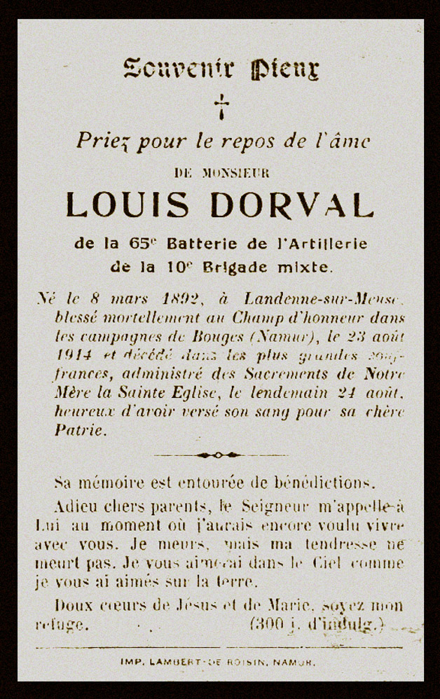 site to be louis dorval landenne