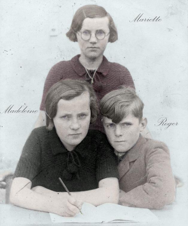 80 Mariette ,Madeleine, Roger GOFFIN , enfants colormibb