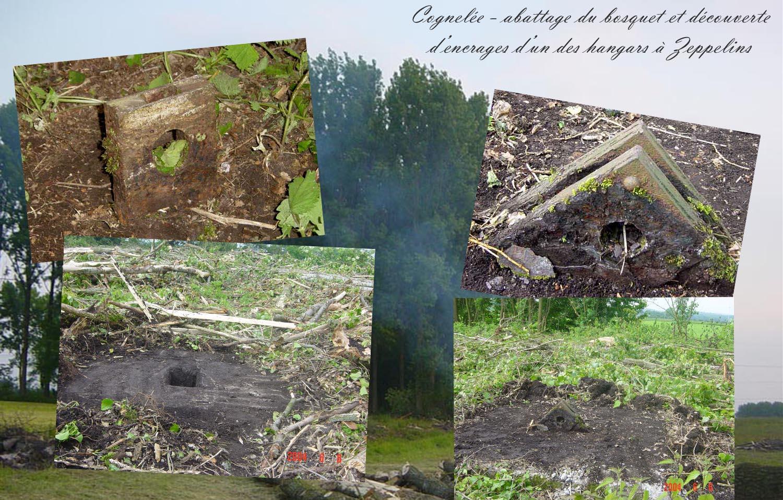 site to be abattage du bois permet la découverte des ancrages d'un hangar à zeppelins copie