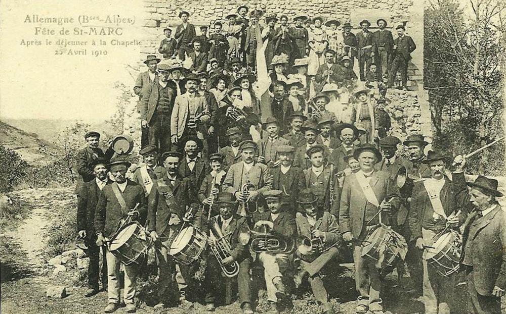allemagne en provence -fete-de-st-marc-25-avril-1910