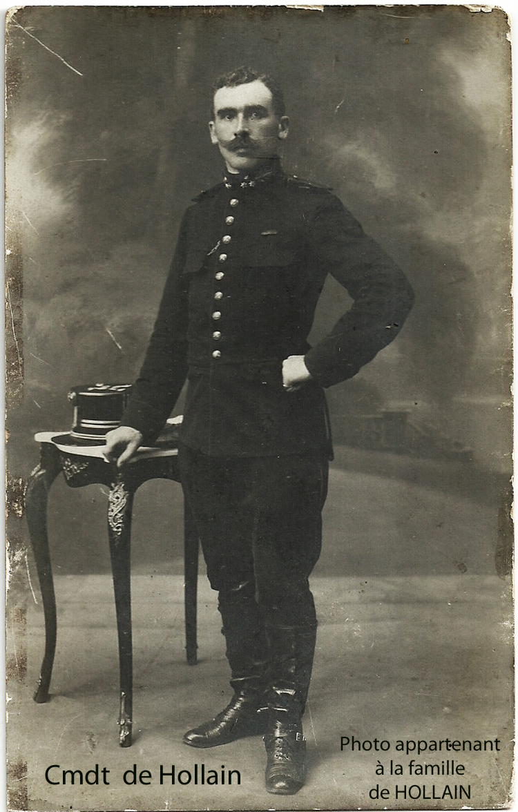 Capitaine-Commandant Alphonse de Hollain photo appatenant à la famille