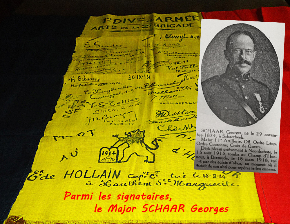 drapeau mme de Hollain et le major schaar