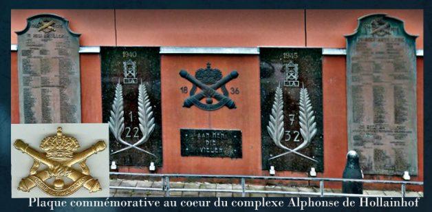 plaque artillerie à Alphonse de Hollainhof