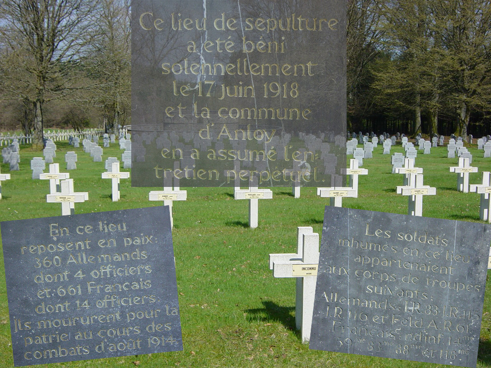 Présence de soldats du 83èR.I. dans l'ossuaire des soldats inconnus à Anloy