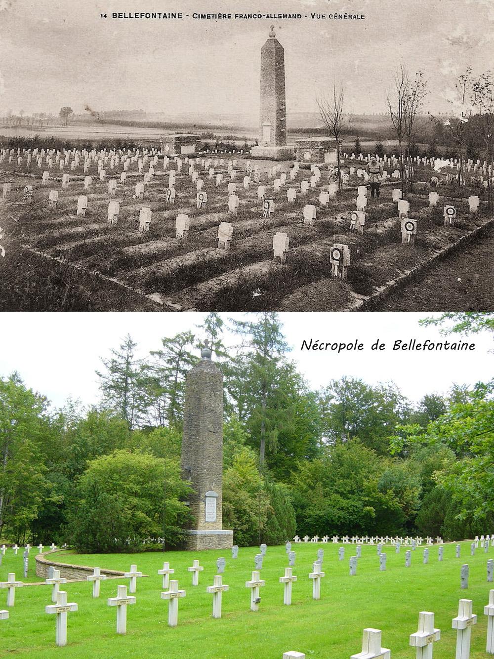 bellefontaine cimetière franco allemand actuel et après guerre