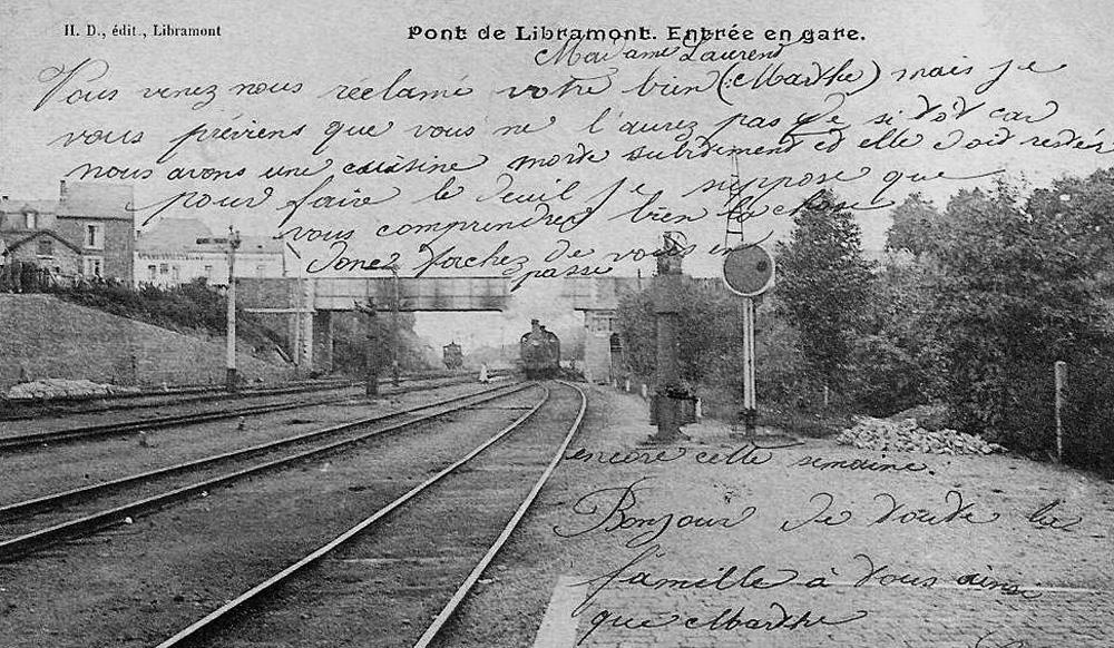 libramont entrée en gare 1905