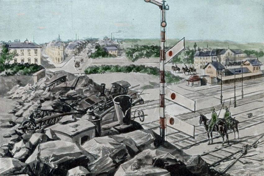 pont de libramont détruit par cheminots