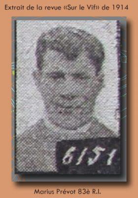 portrait Marius prevot 83è ri exrait le vif 1914