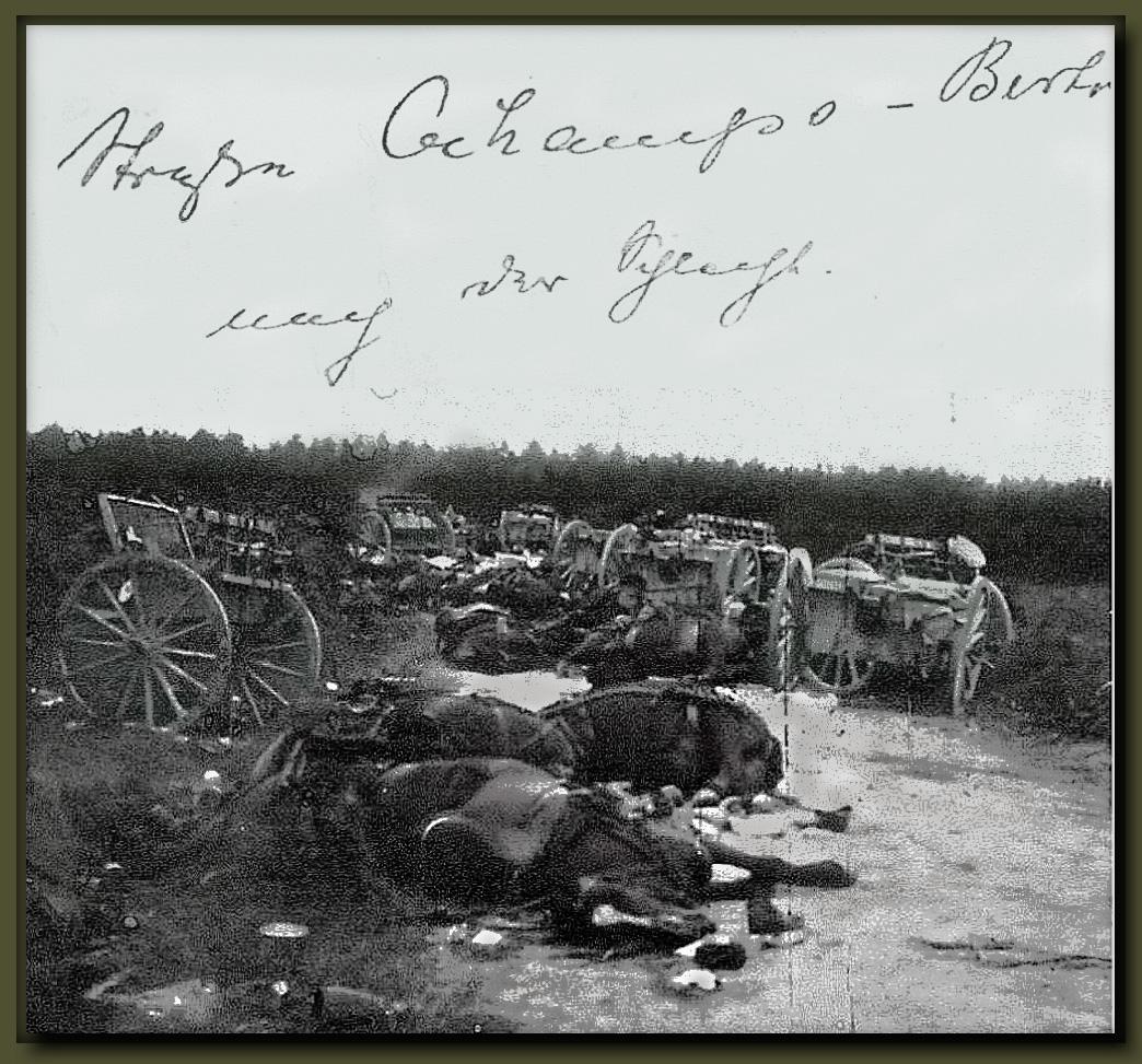 artillerie détruite ochamps 22aout14